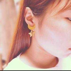 Sailor Moon Crescent Moon Star Earrings Cosplay